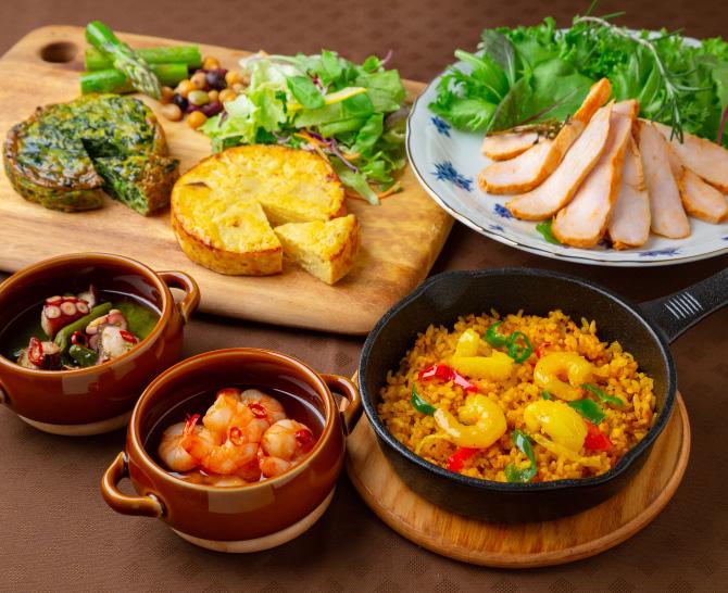 東京品川 「スペインバル モン・テルセーロ」 スペイン料理セット